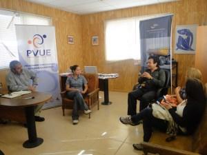 Una reunión de intercambio, sostuvieron los representantes del Programa Vinculación Universidad Empresa, con el Gerente General de REYMAT.
