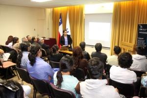 La Directora del Magister Dra. Ana Mercado presentó el programa de estudio durante la inauguración