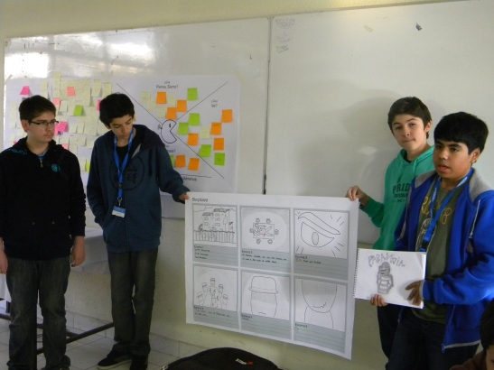 Los estudiantes defendieron sus proyectos frente a sus compañeros